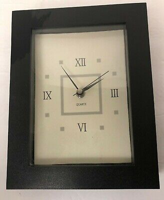 Quartz Roman Numeral Brown Clock 7 X 19""