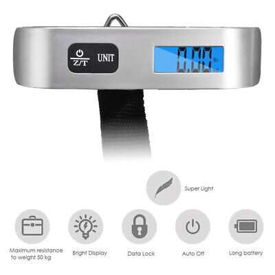 50KG Digital Hanging Luggage Electronic Scale Weight Hand-held Suitcase xfu