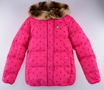 TOMMY HILFIGER Girls' Kids' Down&Feather Padded Winter Coat, Pink, 16 years