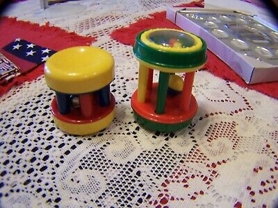Baby Rattle Hand held Shake Bell or Ball Vintage