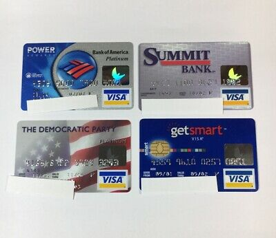 4 Expired Credit Cards For Collectors - Visa Random Collection Pulls Lot (7043)