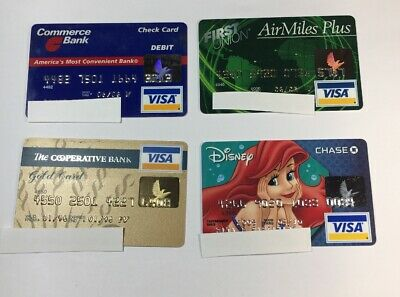 4 Expired Credit Cards For Collectors - Visa Random Collection Pulls Lot (7044)