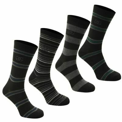 JUNIOR 1-6 , 4 Pack Stripe Socks Formal Stripe Moisture Wicking A523-7