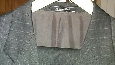 VITO RUFOLO VITALE BARBERIS CANONICO 2PC 2BTN Men's Gray Suit Size 41R 100% Wool
