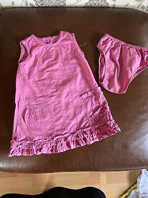 Mothercare Girls Pink Dress & Knickers Age 12-18 Months