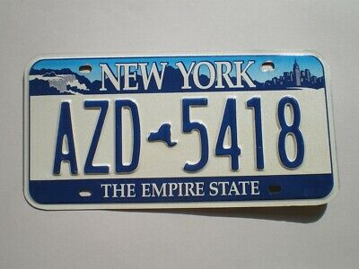 Authentic 2001 New York License Plate