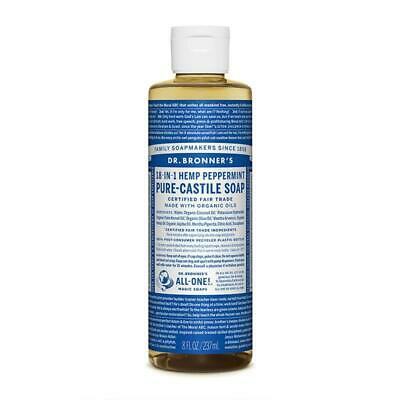 Dr Bronner Peppermint Castile Liquid Soap 236 ML