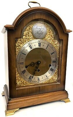 Lovely Mahogany Arched Dial Musical Mantel Clock 3 Tunes St James London