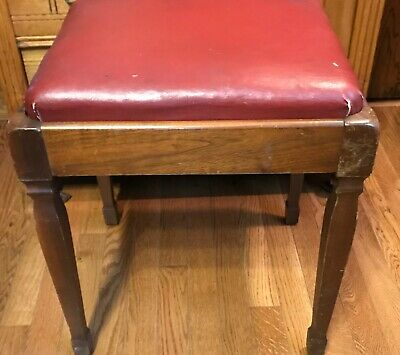 Vintage Walnut Singer Sewing Machine BENCH STOOL, No 40, Original, GC