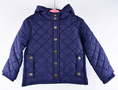 TOMMY HILFIGER Baby Boys' Girls' Beautiful Quilted Jacket, Navy Blue, 24 months