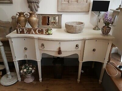 Beautiful Elegant Solid Wood Painted Antique Sideboard