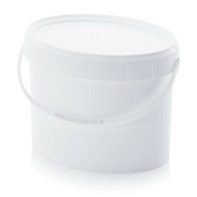 Bucket 18l Oval with Lid Food Grade 18 Litre White 10l 15l 20l