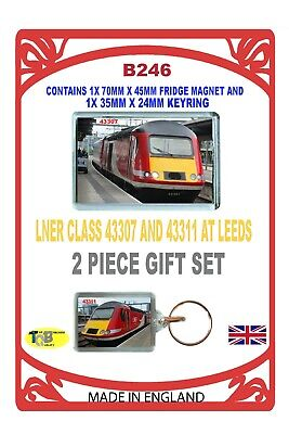 "LNER /""INTERCITY/"" CLASS 91119 RULE,KEYRING AND FRIDGE MAGNET SET B42611P"