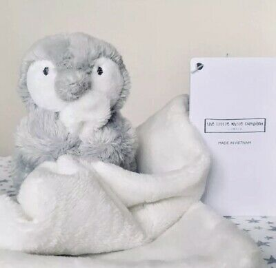 THE WHITE COMPANY Penguin Bear Comforter Soother Soft Toy ~ NEW ~ Blanket