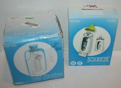 Kiinde Twist Squeeze Bottles w/Nipples 2 Piece & 40 Pouches *Open Packaging*