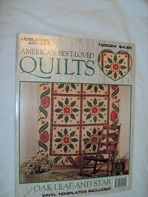Spinning Spools quilt pattern /& templates Oak Leaf and Star ~ Quilt /& Block
