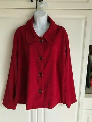 Briggs New York Button Down Shirt Size 24W Red, Small Purple+, size 24W L-Brown