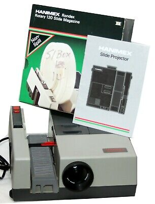 Hanimex 35mm automatic Slide Projector in mint condition, tested,  as NEW + Book