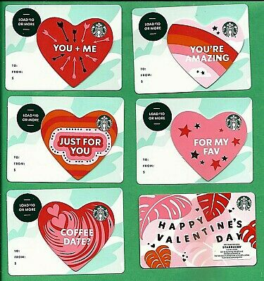 2020 Starbucks Canada Die Cut Hearts Valentine Bilingual Gift Card No  Value