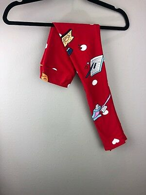 LuLaRoe Kids L/XL 2019 Valentine's Day Leggings 1098 Fun Items on Red