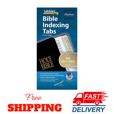 The Gold Edged Bible Indexing Tab Old And New Testament 80 Tab Including 64 Book