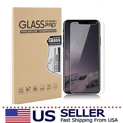 2 x Apple iPhone Screen Protector Tempered Glass 7 8 Plus X Xs Xr Max XR 11 Pro