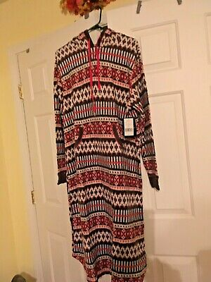 CUDDL DUDS - Long Fleece Hooded Sleep Gown - WARM ! New With Tags Free Shipping