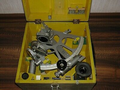 Original russian navigation marine sextant SNO-T CHO-T. Used. Sale AS IS.