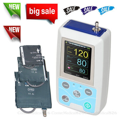Ambulatory Blood Pressure Monitor USB NIBP 3 Cuffs Software Adult Large Child