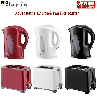ELECTRIC CORDLESS 1.7L Kettle & Two Slice Toaster Plastic