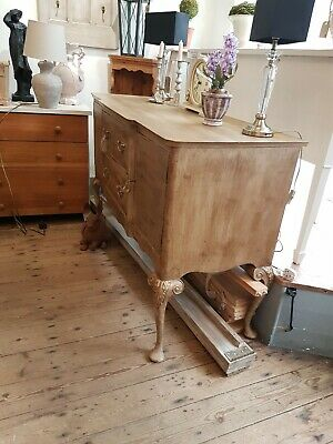 Very Pretty Antique Solid Wood Painted Sideboard Storage
