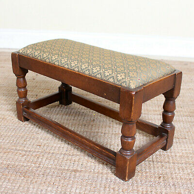 Antique Oak Stool Country Footstool