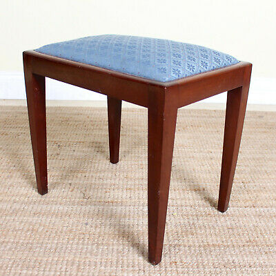 Antique Vintage Mahogany Stool Footstool