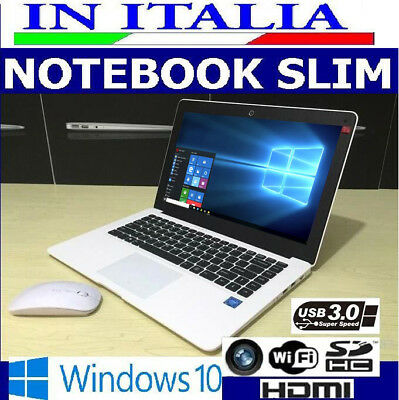 Ultraslim Computer Portatile Windows 10 Notebook Pc Laptop Ssd Intel Quad Core