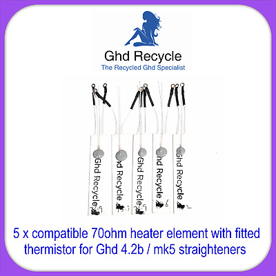 "Ghd Heater Elements With Thermistor x 5 Compatible With Mk5/ 4.2b ""Best Quality"""
