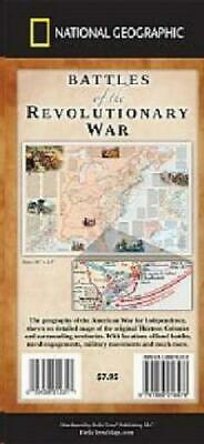 Battles of the Revolutionary War Map National Geographic Highly Detailed Map