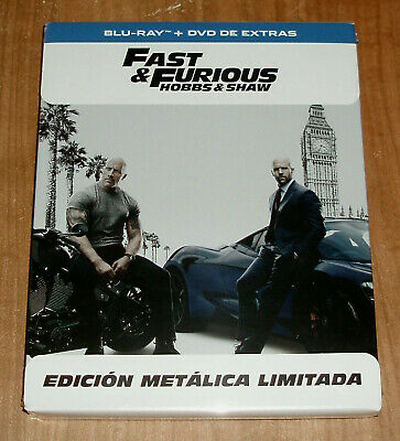 Fast & Furious: Hobbs & Shaw Blu-Ray + DVD Steelbook New Action (No Open) A-B-C