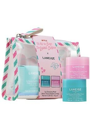 Laneige Sweet Candy & Mint Lip Sleeping Mask Set Netflix To All The Boys