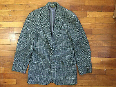 35R Brooks Brothers Camel Hair Thick Glen Plaid Sport Coat Blazer mens wool 1363
