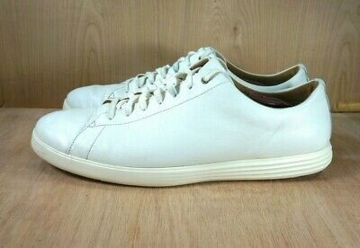 $150 Cole Haan Grand OS Crosscourt II Mens White Leather Sneaker Shoes 7-13