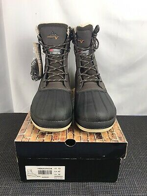 NORTIV 8 Men Snow Boots Insulated Waterproof Rugged Duty Outdoor Winter Boots 13