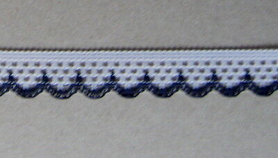 CRAFT-SEWING 14mmWhite/Black Crochet Look Scallop Lace(mtr variations available)