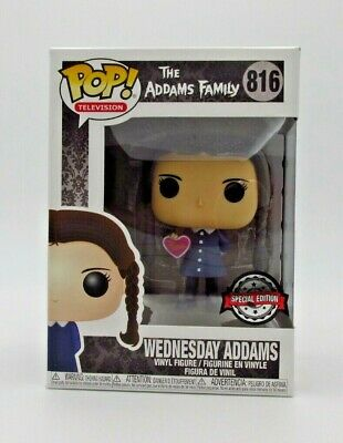 Funko Pop!: The Addams Family- Wednesday W/ Valentines Heart Exc #816 *Uk Stock*