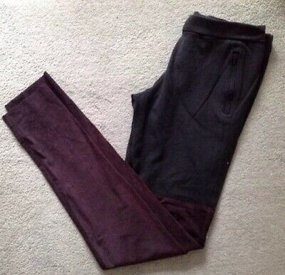 PINKO Part Suede Effect Black Leggings Size L (12)