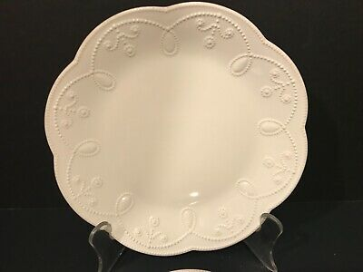 """Lenox American By Design French Perle 2 White Salad Accent Plates 9"""" 822940 New"""