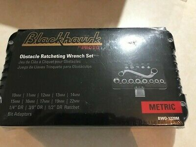 *NEW Blackhawk BWO-1220mObstacle Ratcheting Wrench Set - 14 PC, S Type Handle