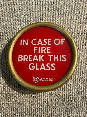 Vintage Edwards Glass Fire Alarm
