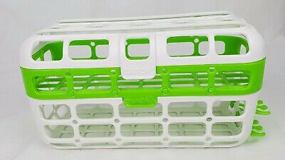 Munchkin Deluxe Dishwasher Basket Utensil  Straw Cleaning Rack  Tool Detachable