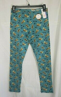 Wonder Nation Girls Size XX-Large 18 Green Blue Tiger Animal Print Leggings New