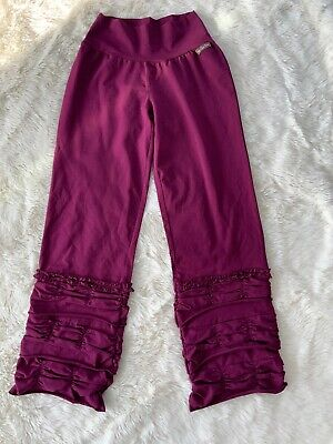 Matilda Jane Ruffle Wine Colored Cropped Pants Womens S